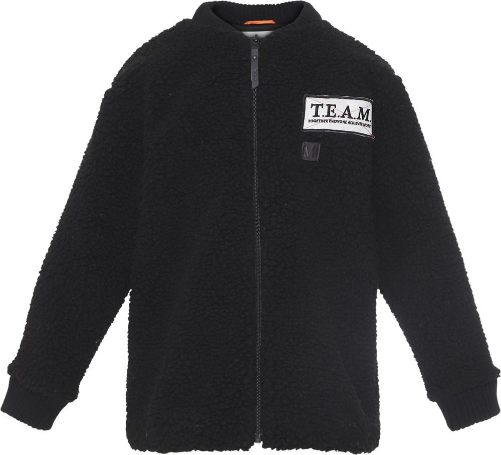 Ulasas - Black - Black fleece jacket with team
