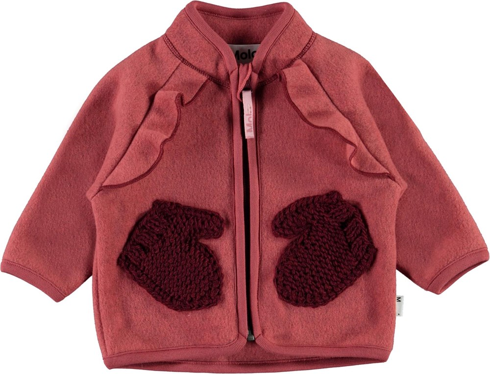 Uli - Maple - Red baby fleece jacket
