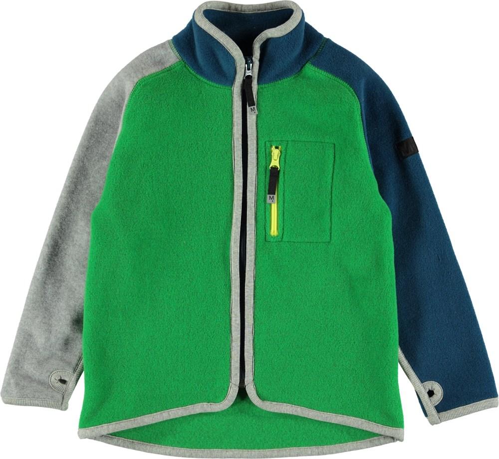 Ulrick - Total Green - Green fleece jacket.