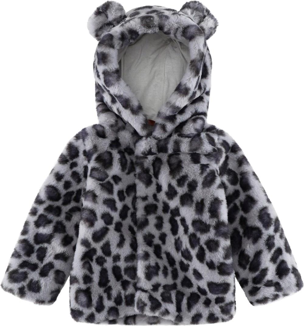 Ulva - Snowy Leo Fur - Baby leopard fur jacket