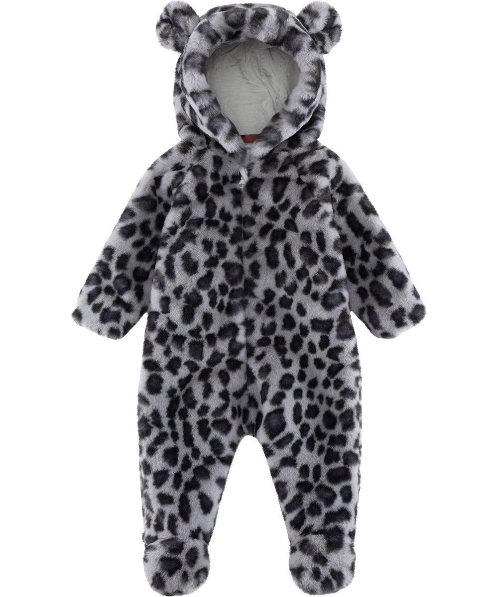 Umba - Snowy Leo Fur - Baby leopard fur suit