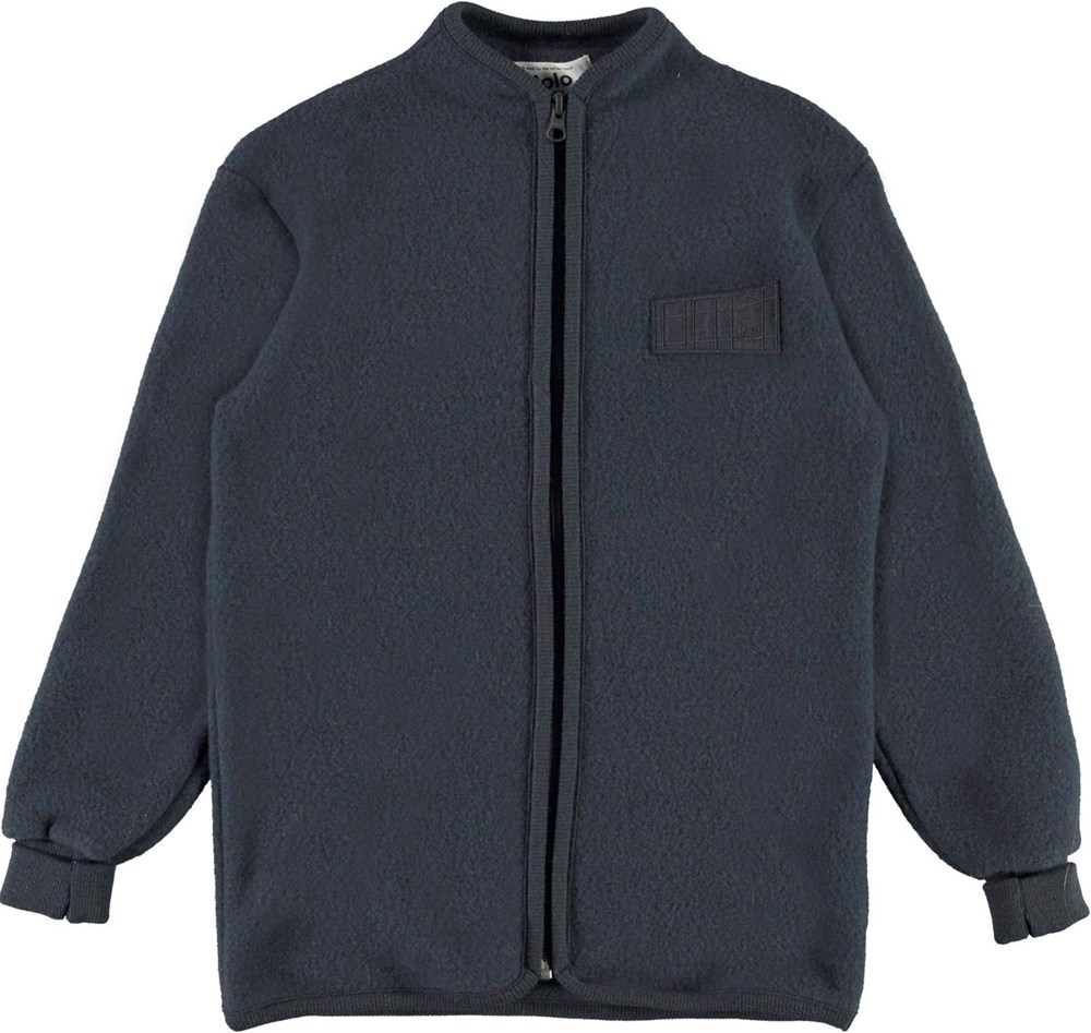 Umbat - Dark Navy - Blue wool jacket