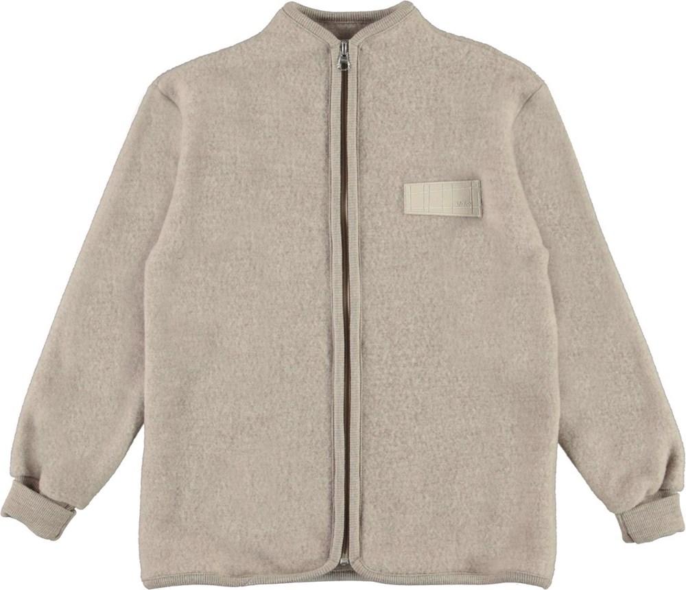 Umbat - Moon Sand - Beige wool jacket