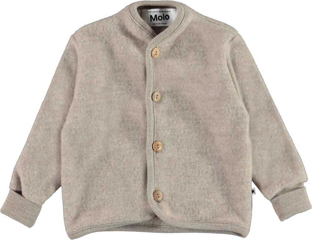 Umber - Moon Sand - Beige baby jacket in wool
