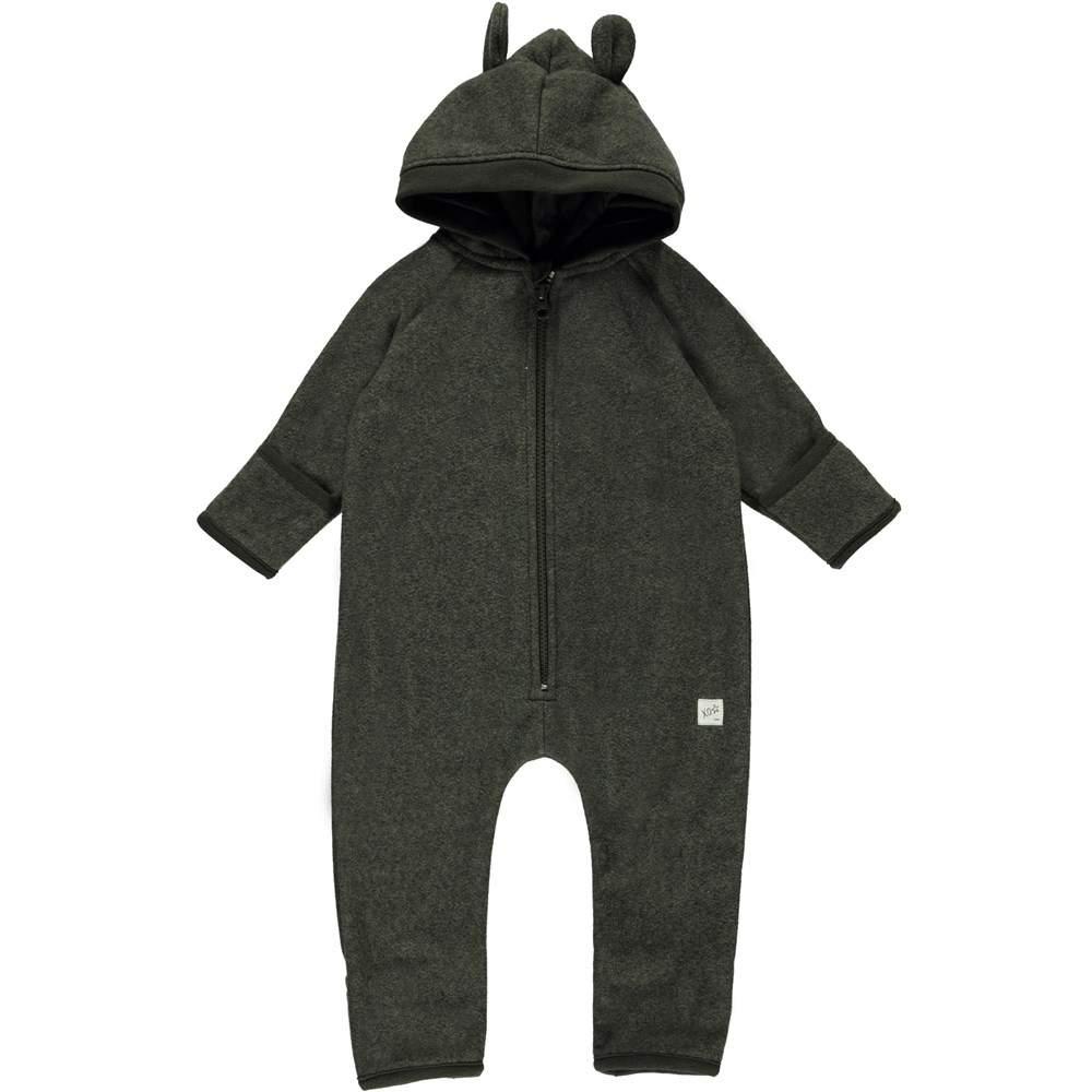 Umeko - Evergreen - Udo Baby Fleece Romper
