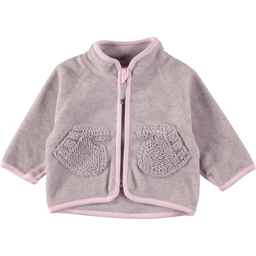 Umo - Pink Lady - Rose coloured baby fleece jacket