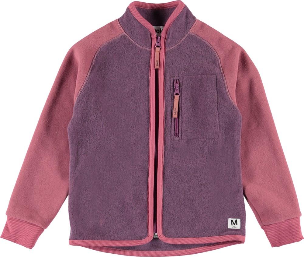 Unna - Amethyst - Purple and rose fleece jacket