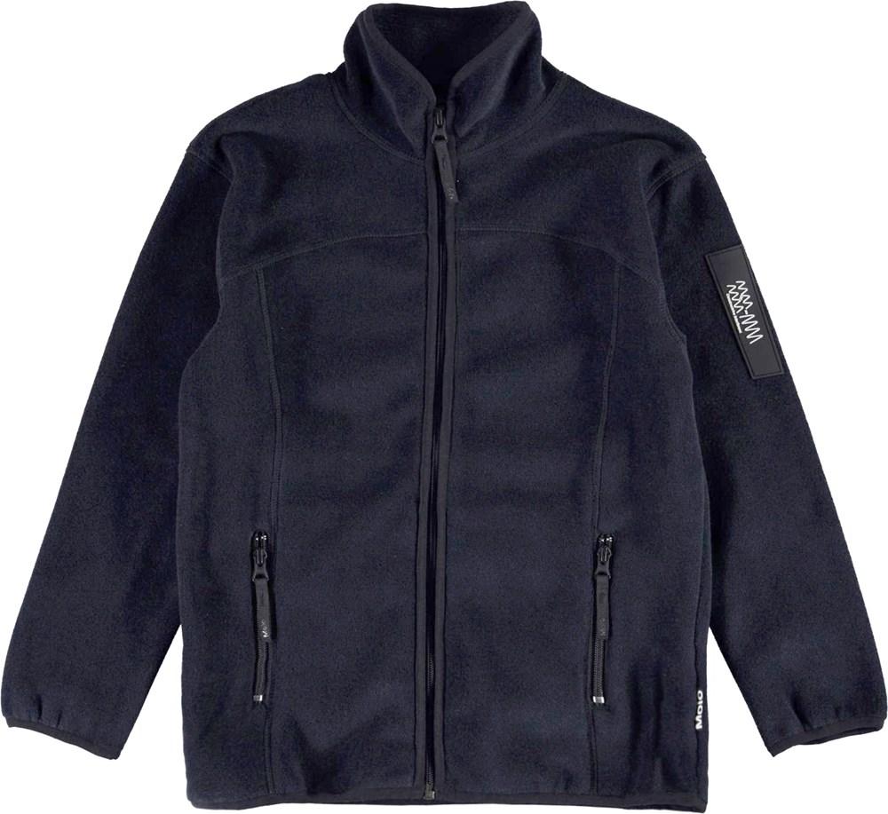 Urbano - Dark Navy - Dark blue fleece jacket