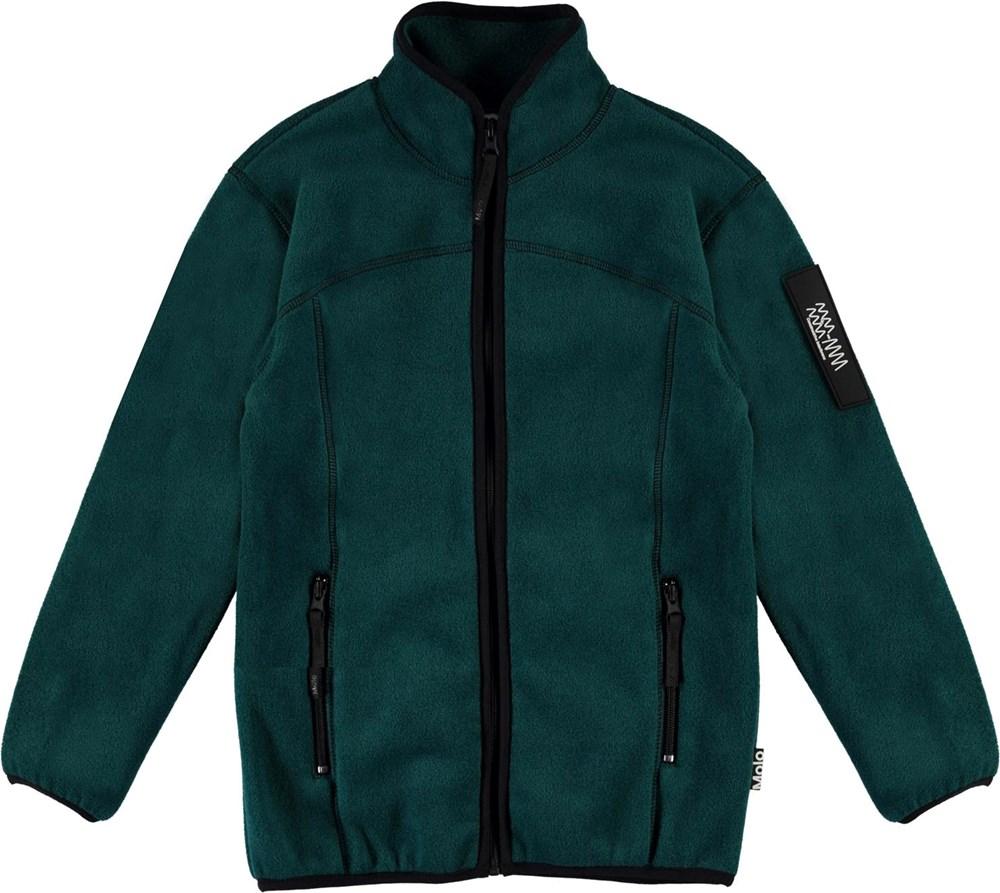 Urbano - Night Forest - Dark green fleece jacket