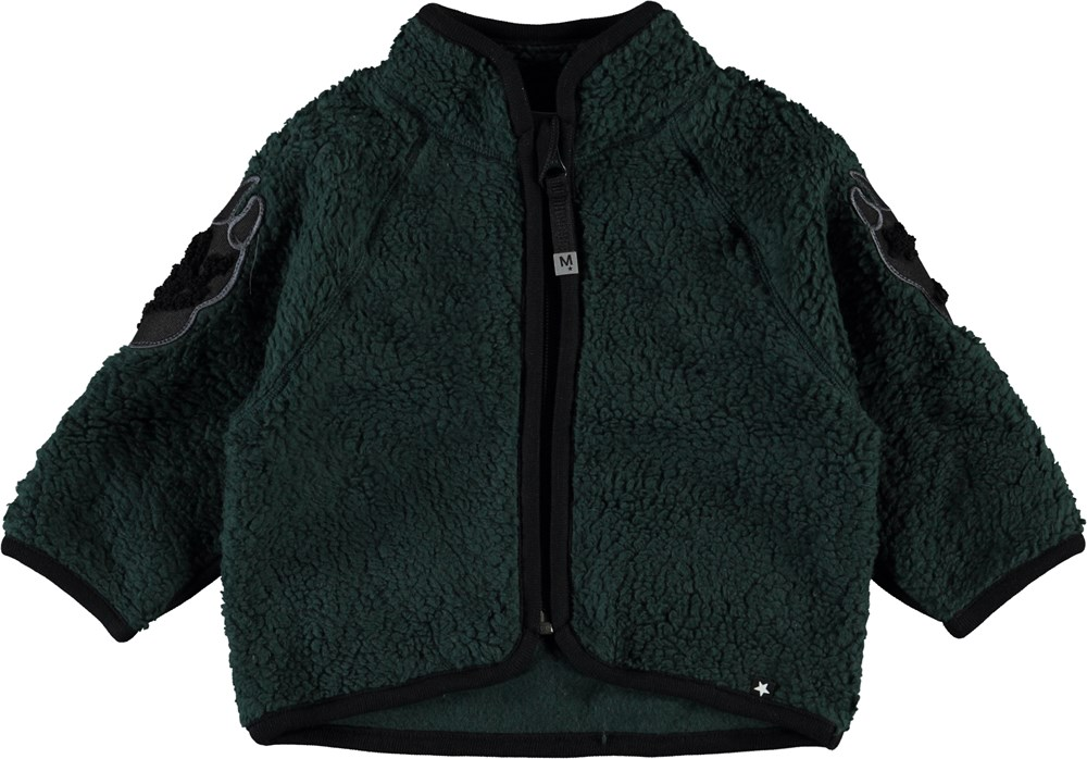 Urvan - Green Gables - Dark green coloured fleece jacket