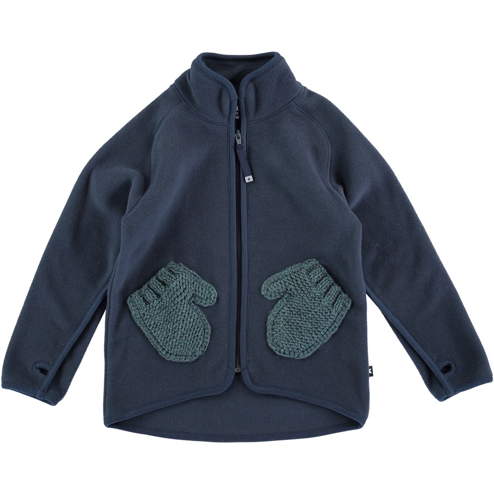 Ushi - Midnight Navy - Blue fleece jacket - molo
