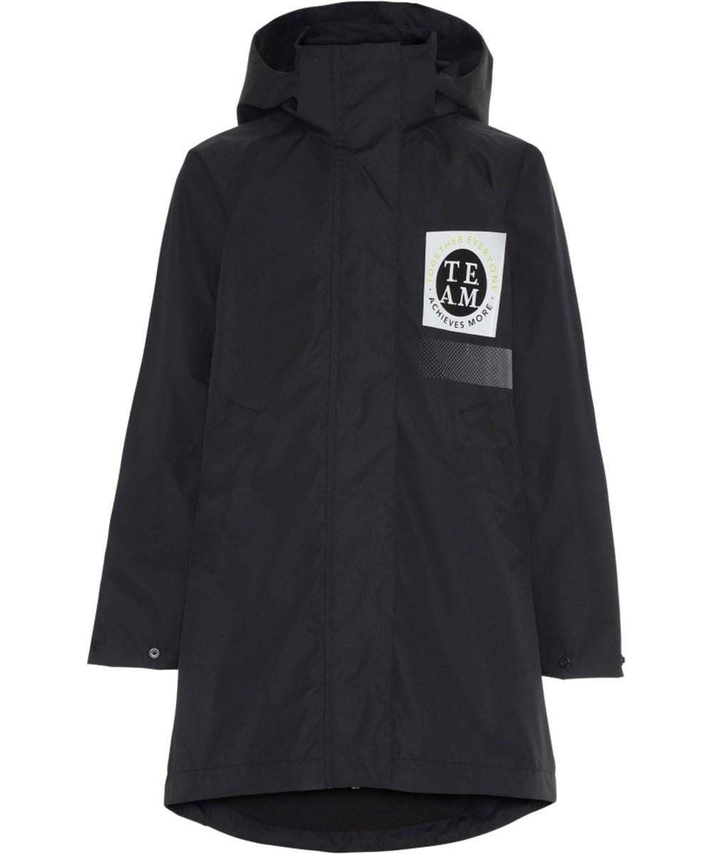 Win - Black - Long black, waterproof parka jacket