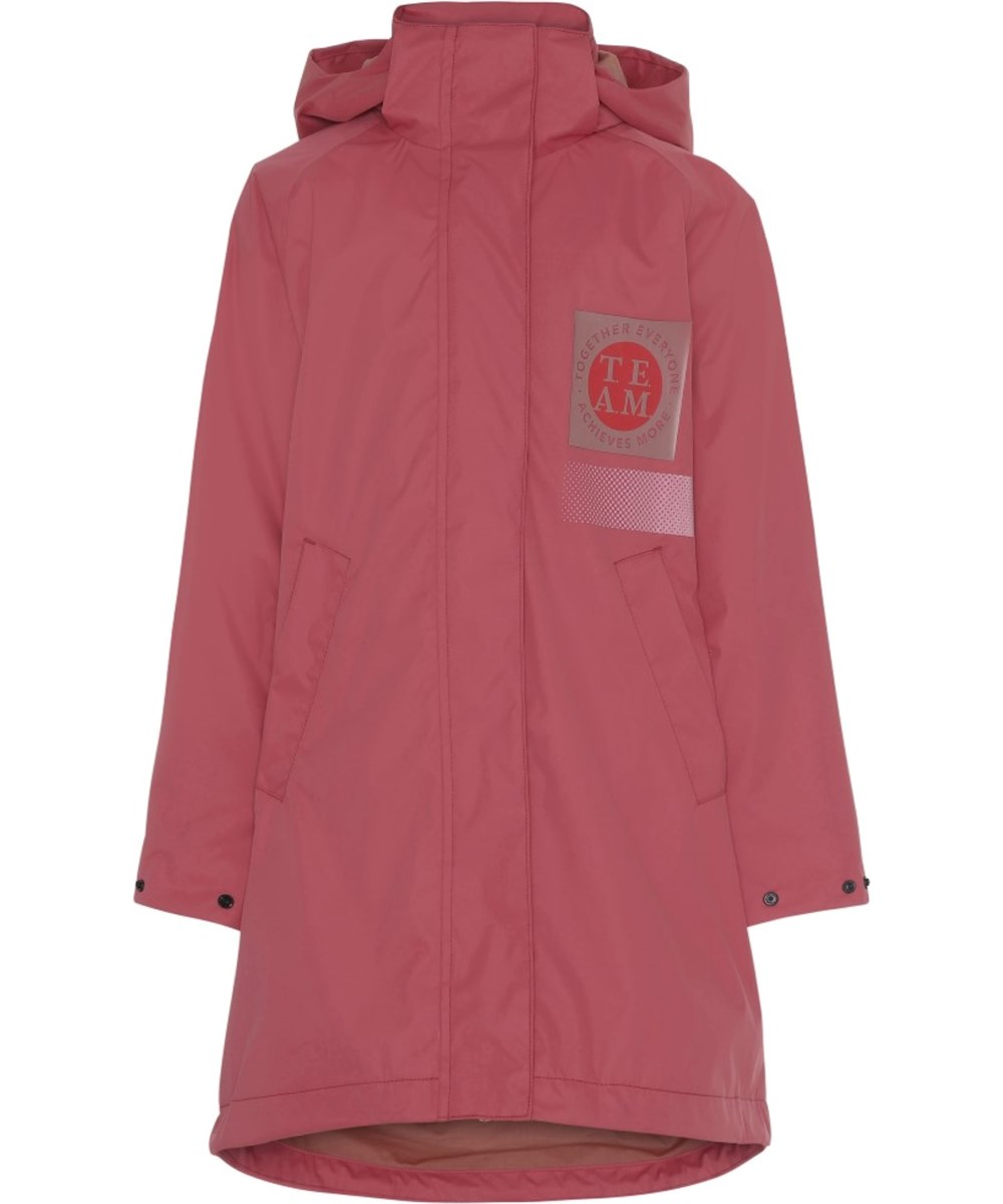 Win - Holly Berry - Long, pink waterproof parka jacket