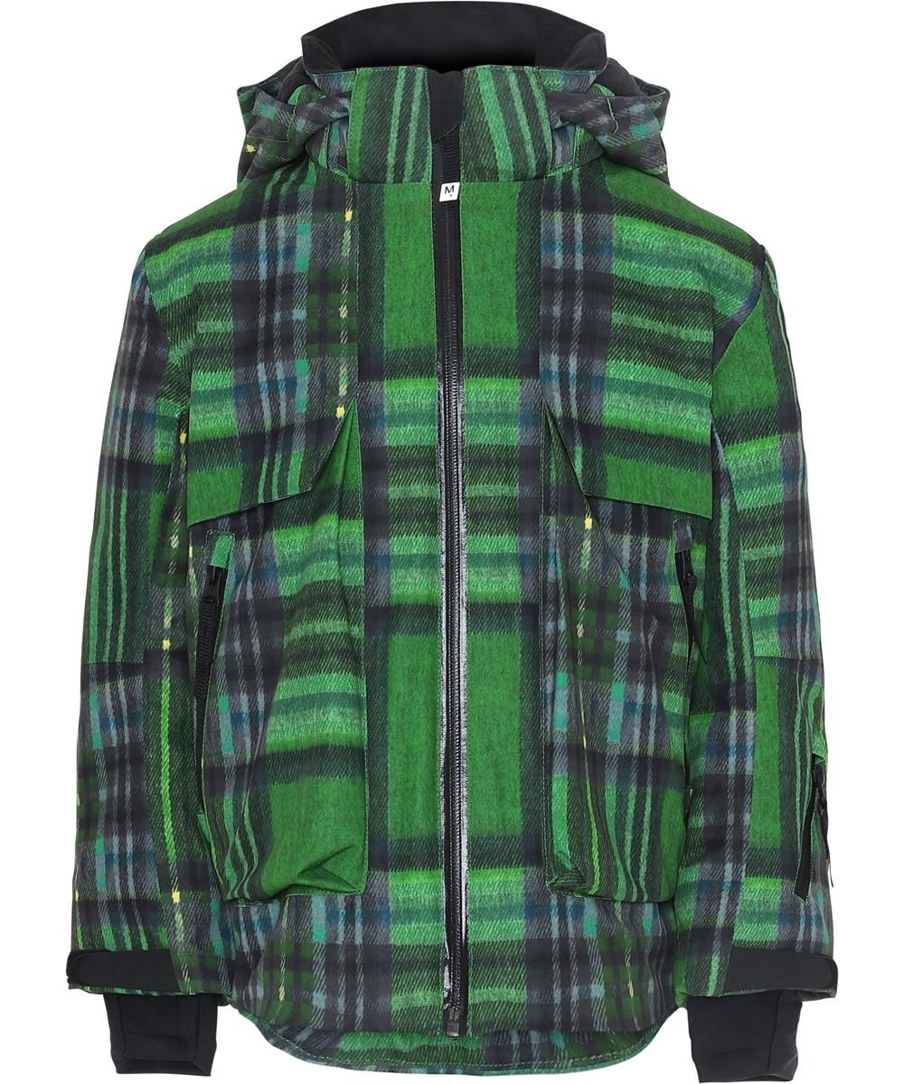 Alpine - Big Check - Ski jacket in green check print