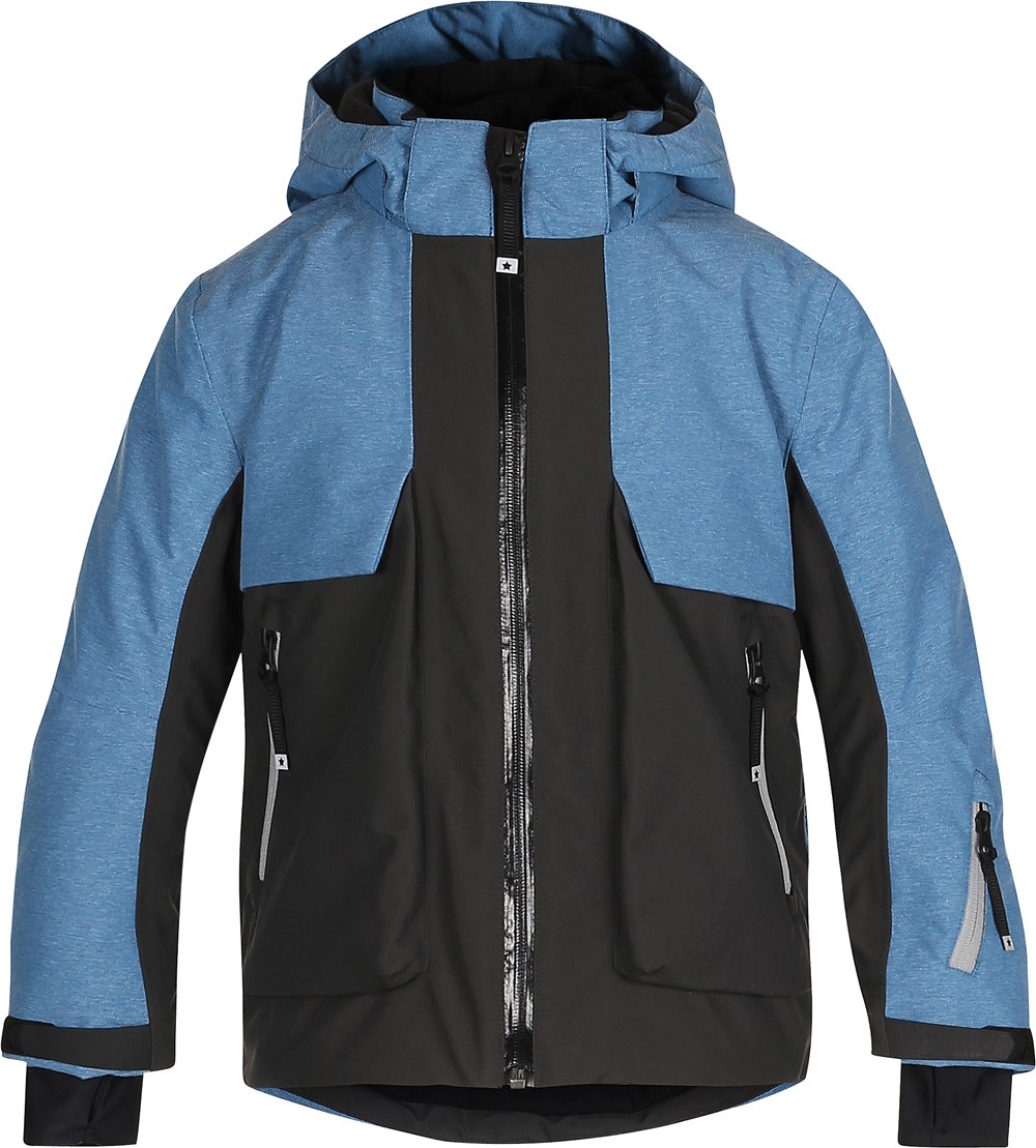 Alpine - Blue Mountain - Blue ski jacket with reflectors