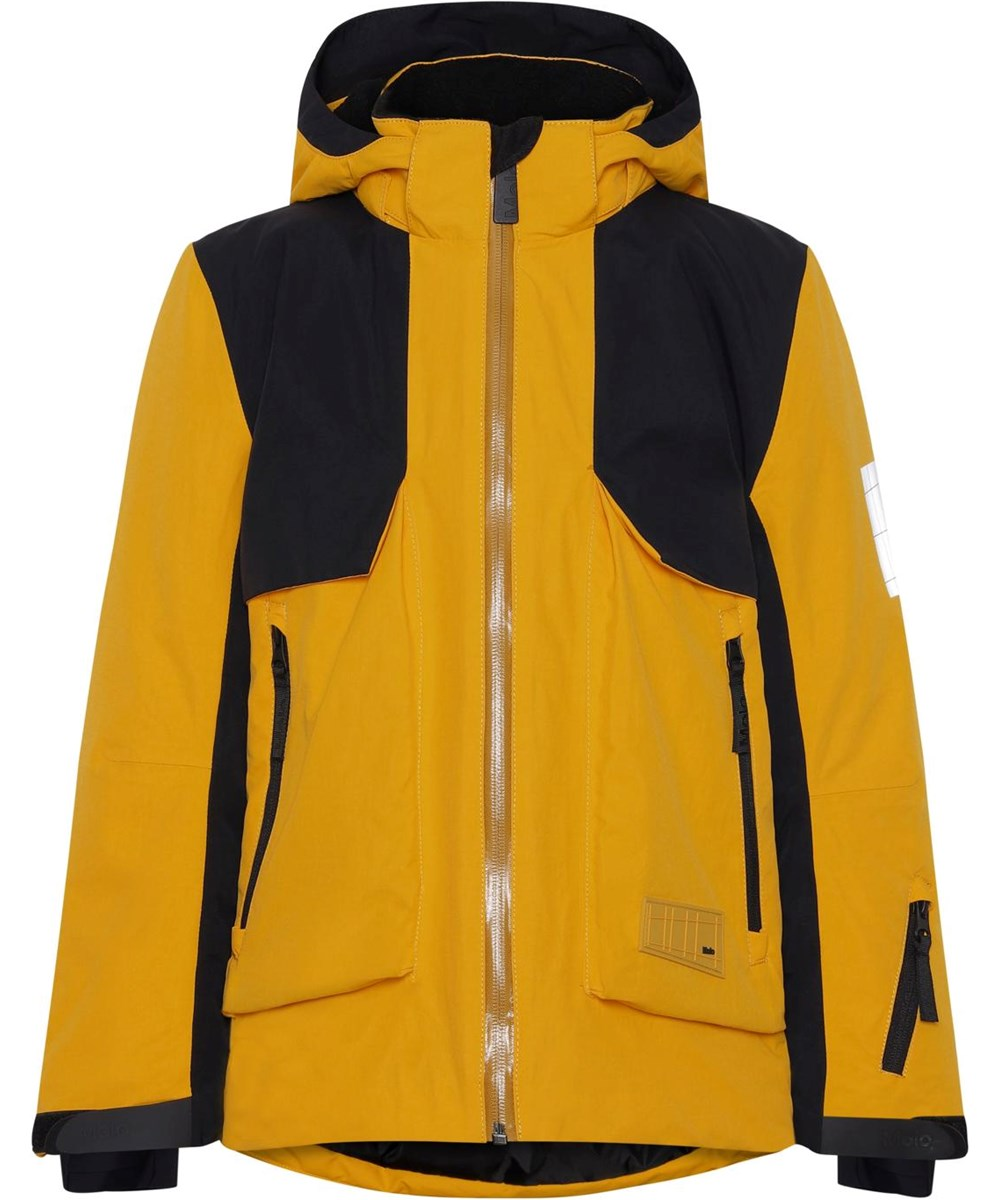 Alpine - Fire - Recycled yellow and black ski jacket