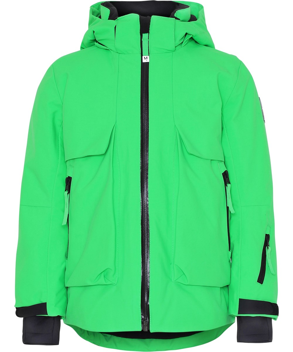 Alpine - Led Green - LED green ski jacket.