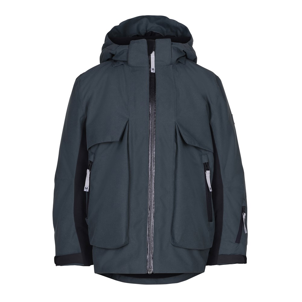 Alpine - Pigment Teal - Cool and functional ski jacket in dark grey