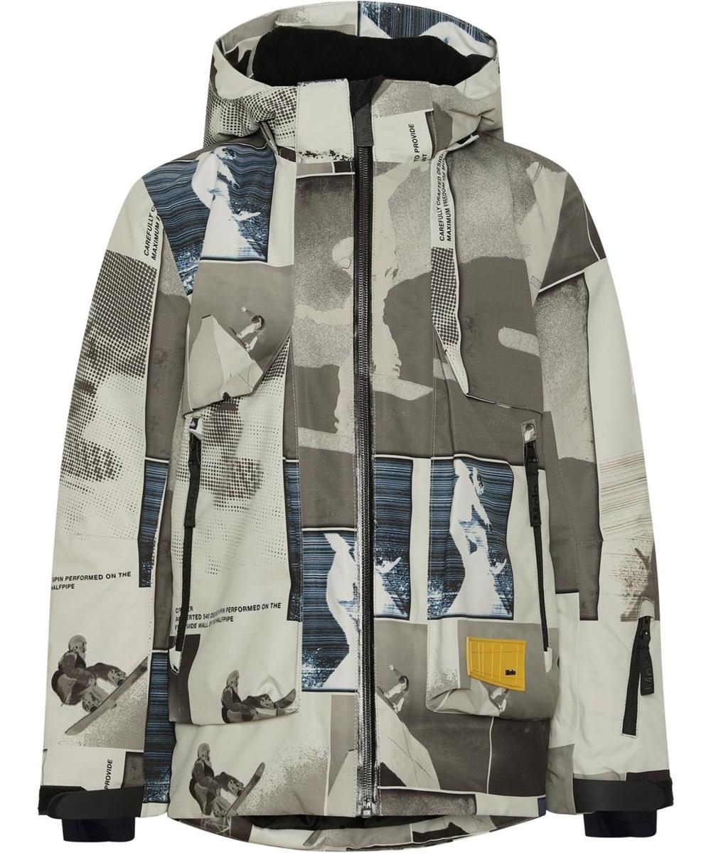 Alpine - Screenshot - Recycled waterproof beige ski jacket snowboard J177:J178
