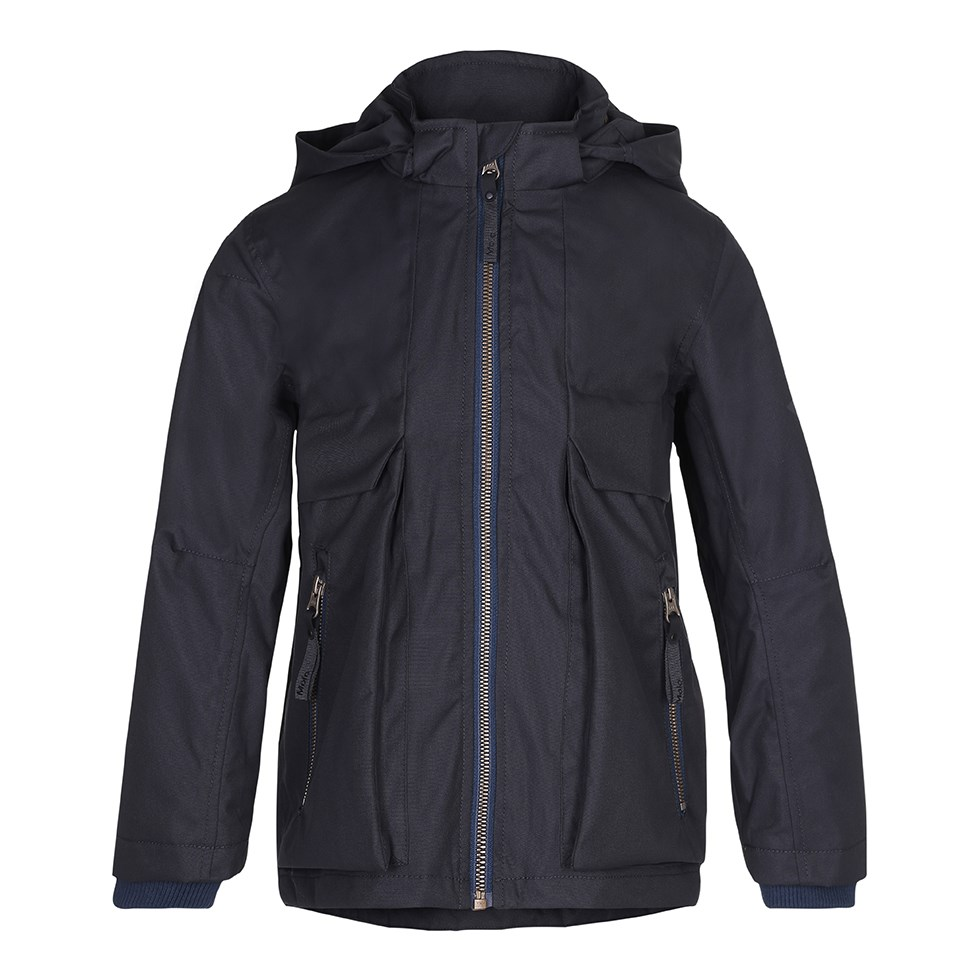 Casper - Almost Black - Sporty and functional jacket in black