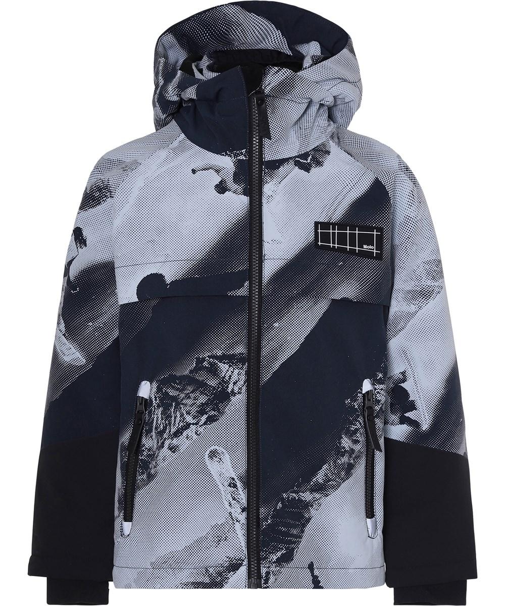 Castor - 2 Tones - Waterproof winter jacket with futuristic print