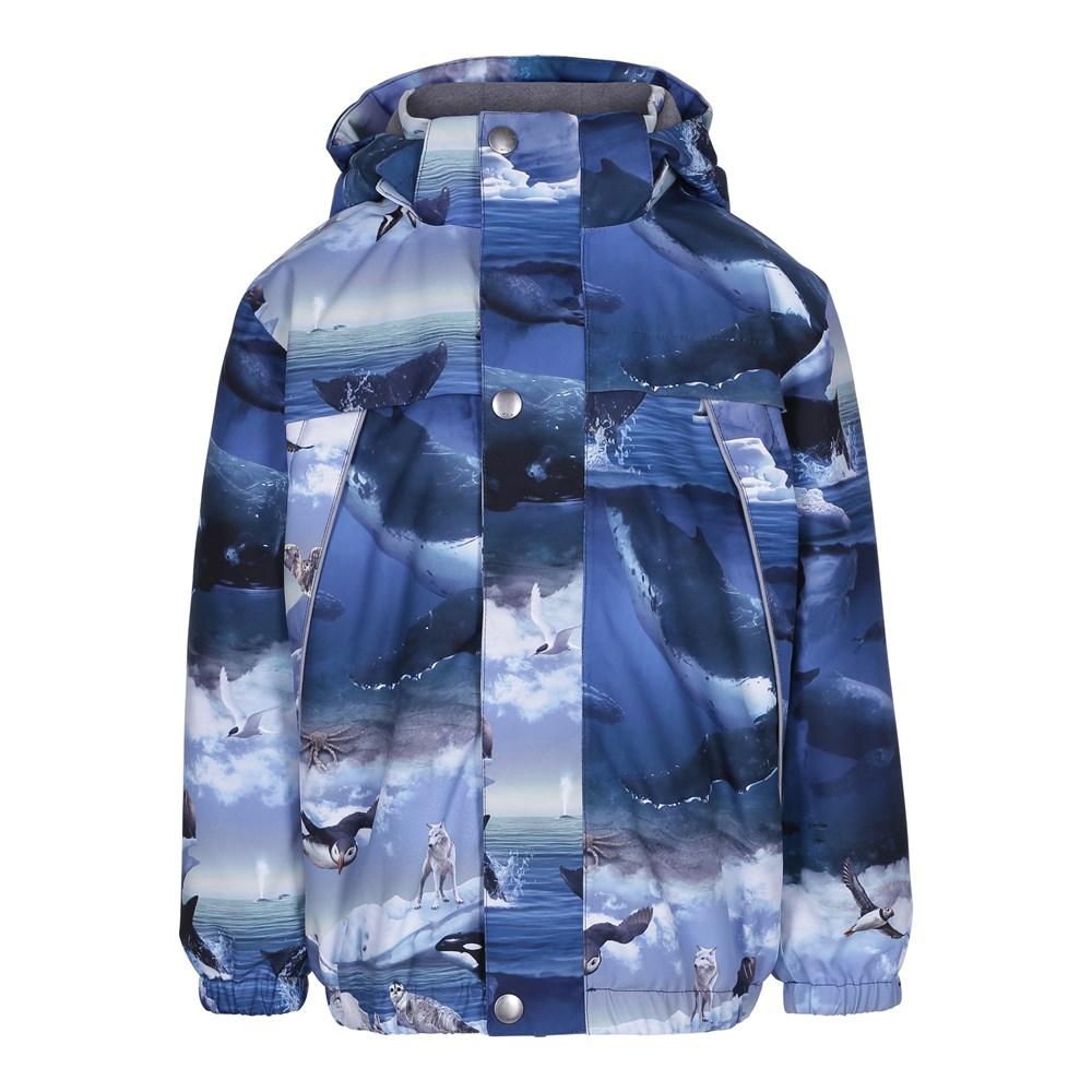 Castor - Arctic Landscape - Lined winter jacket with digital arctic landscape print