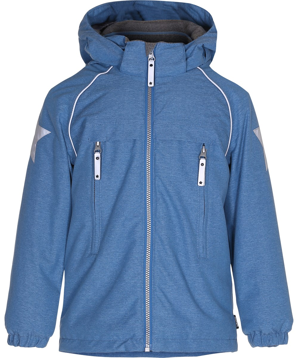 Castor - Blue Mountain - Blue winter jacket with reflectors