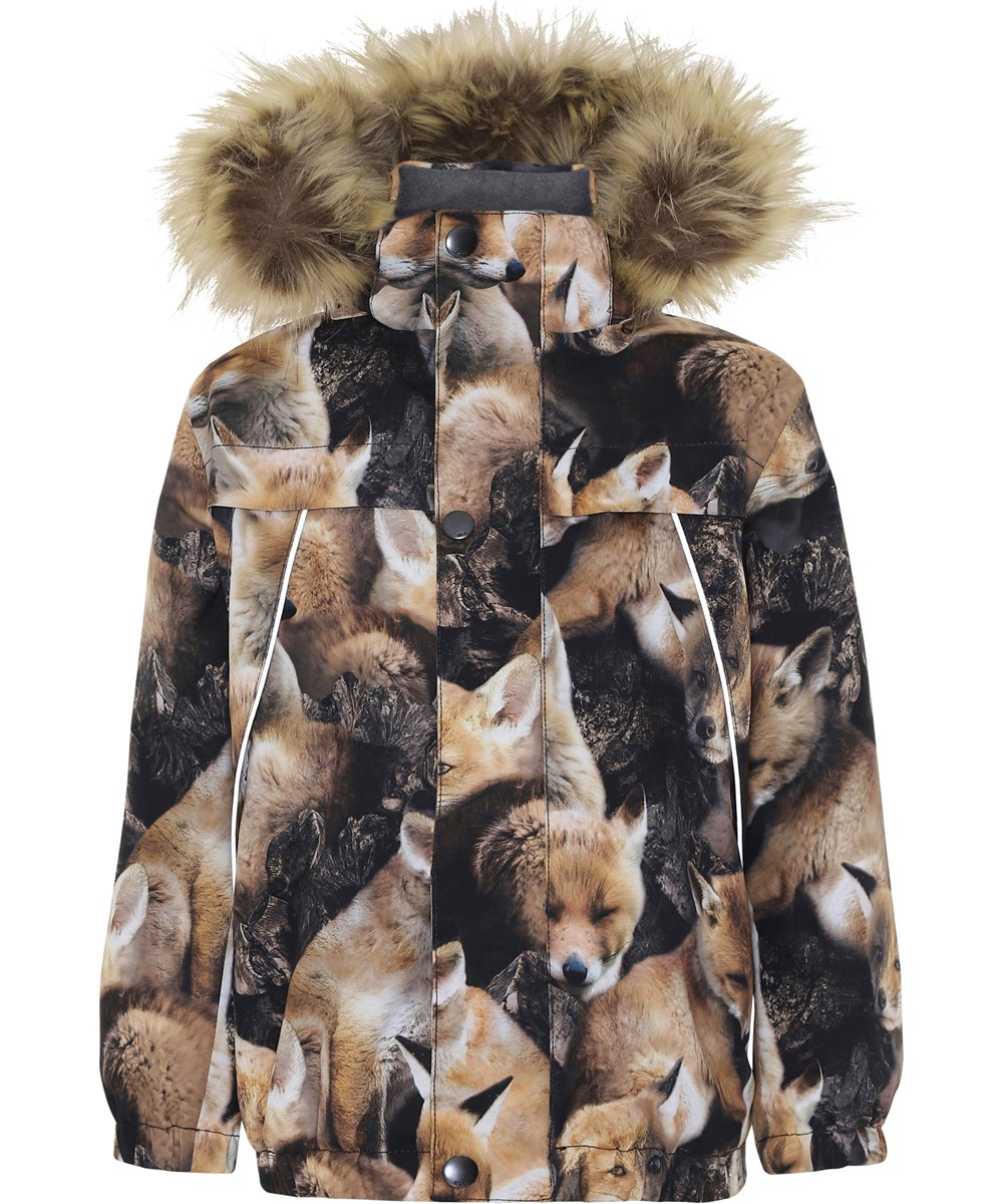 Castor Fur - Fox Camo - Winter jacket with foxes.