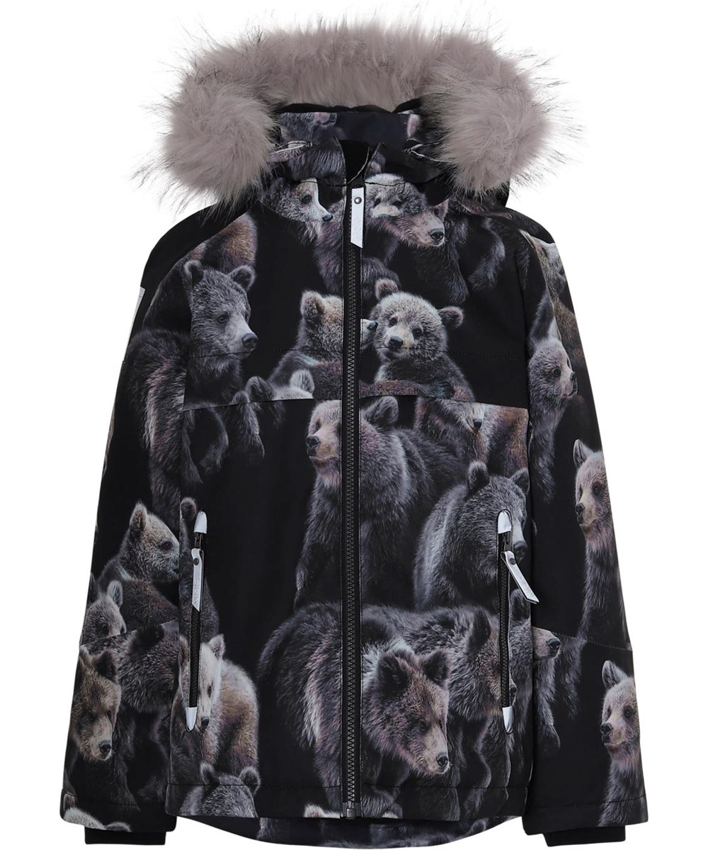 Castor Fur - Teddy - Winter jacket with bear print and fur
