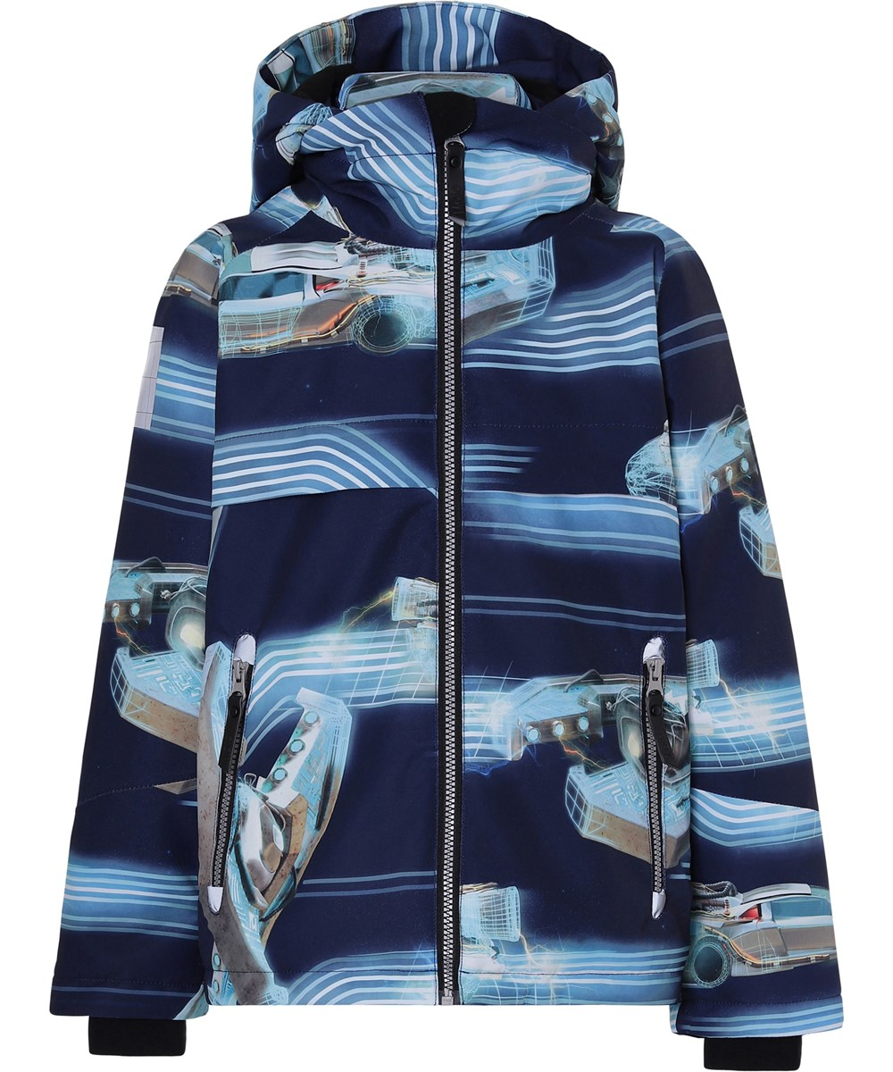 Castor - Past Now Future - Waterproof winter jacket with futuristic print