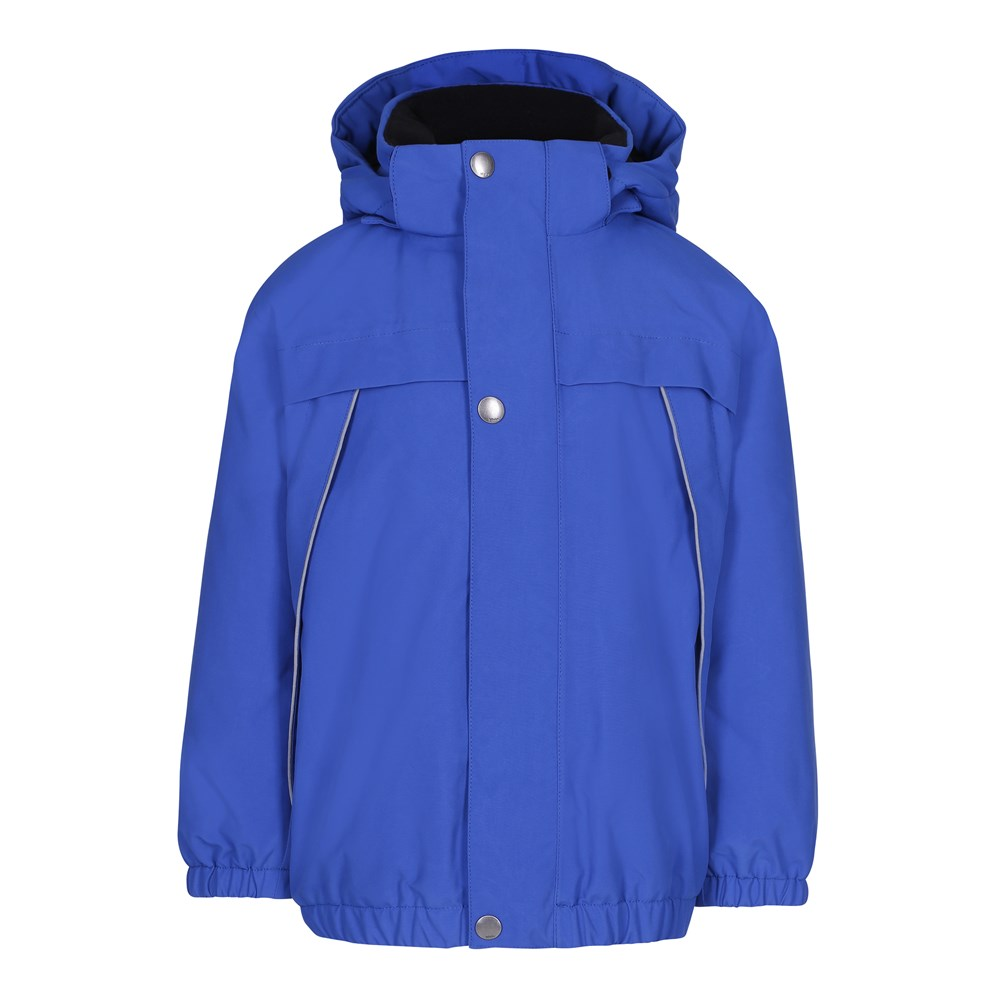 Castor - Real Blue - Blue, lined winter jacket with fleece and hood