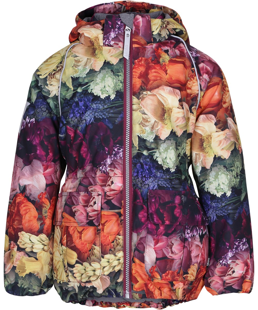 Cathy - Flower Rainbow - Sporty and feminine winder jacket with digital flower print