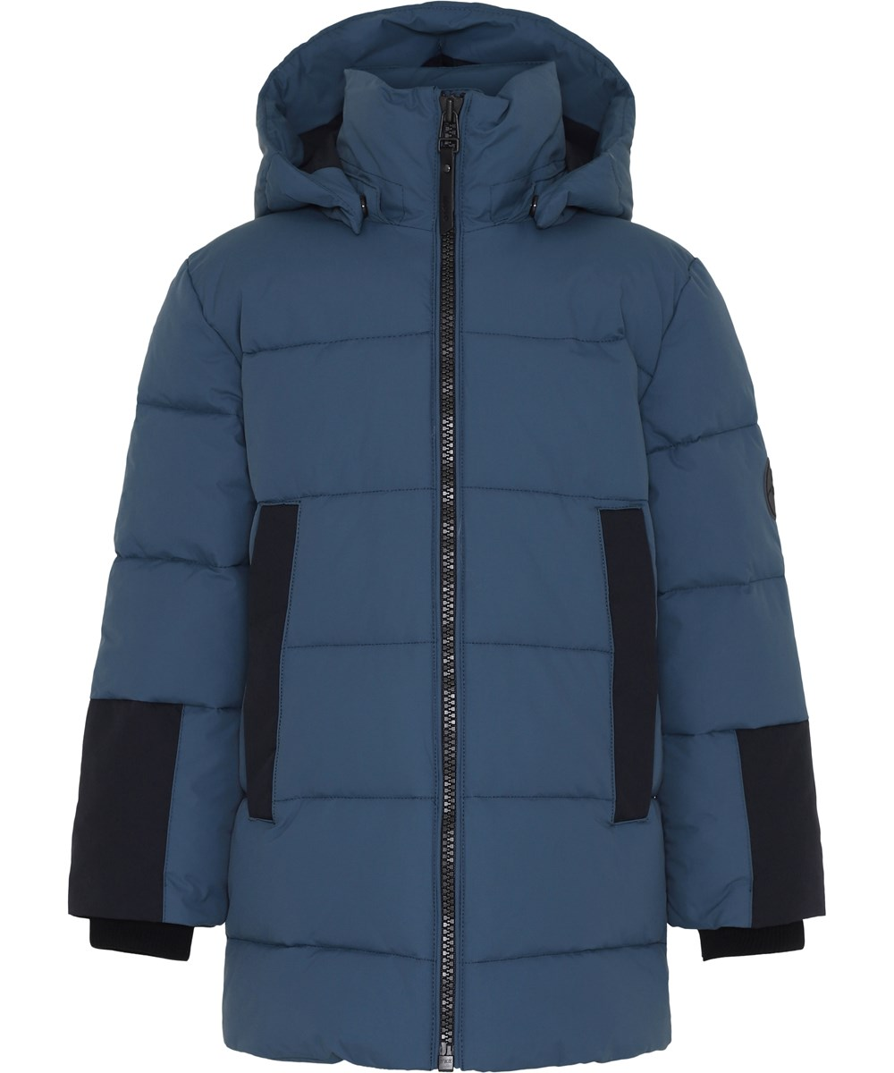 Hadley - Metal Blue - Blue winter jacket.