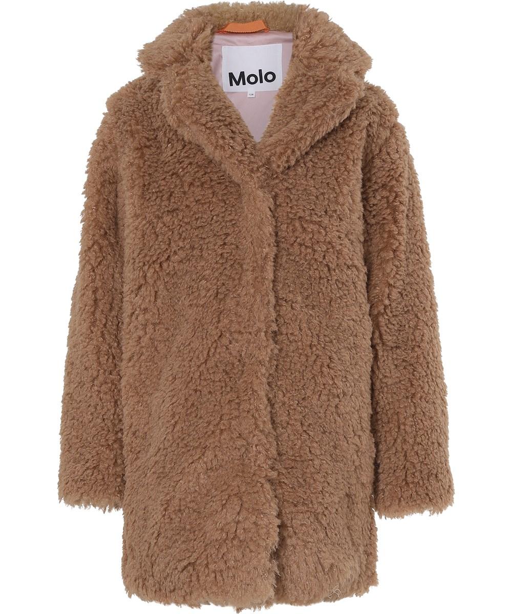 Haili - Autumn Leaf - Light brown teddy coat