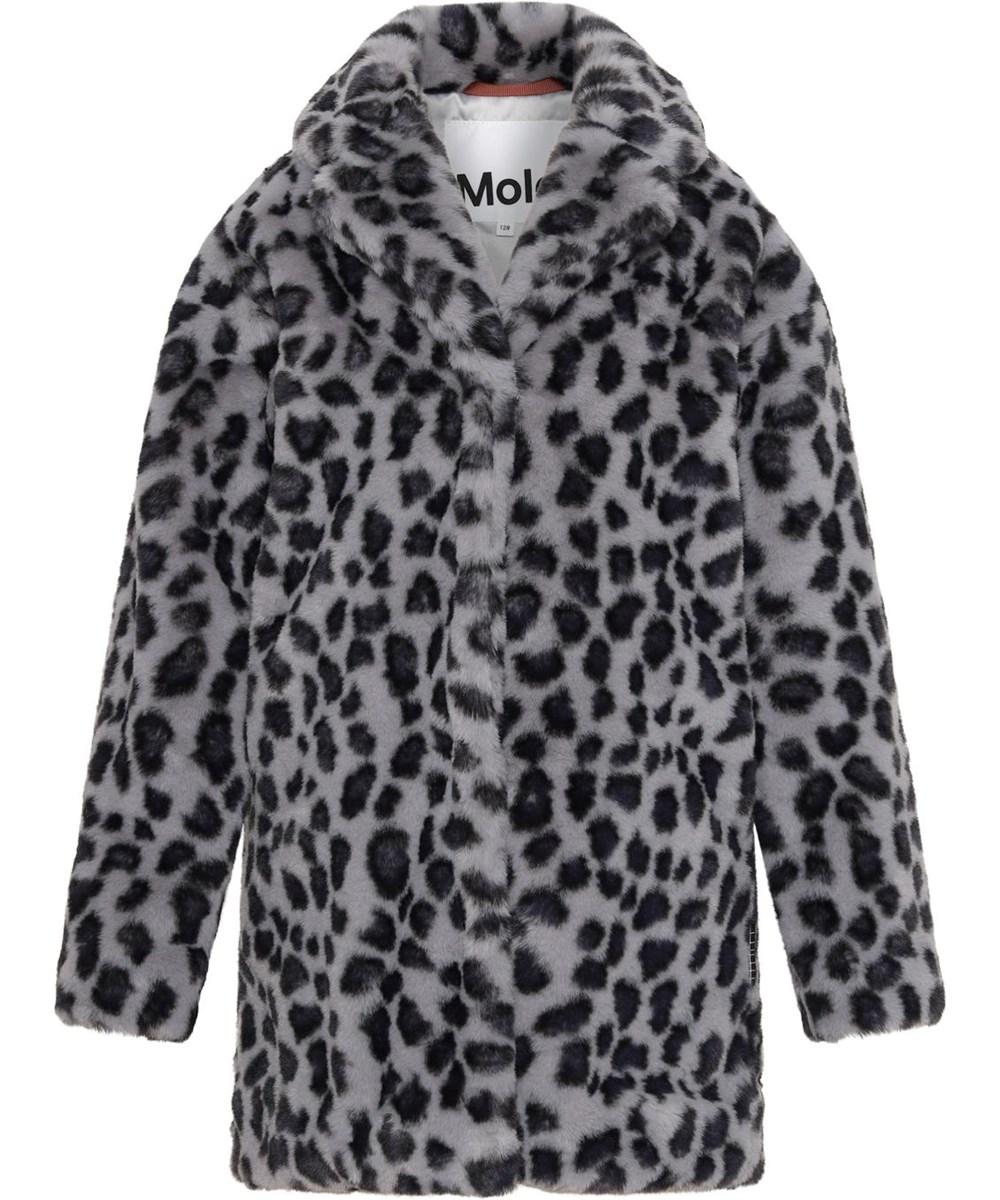 Haili - Snowy Leo Fur - Faux fur coat in leopard print