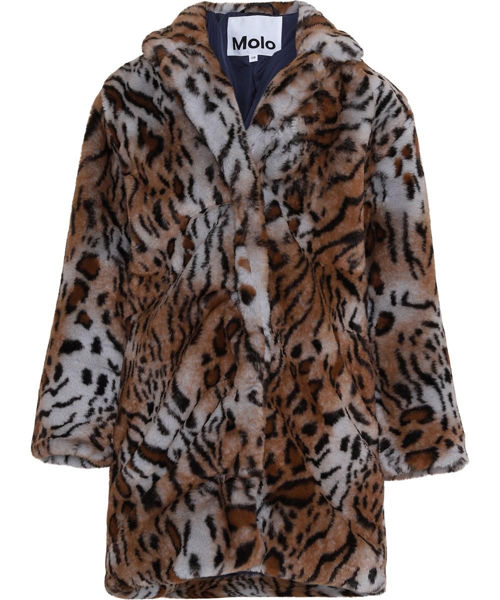 Haili - Wild - Faux fur leopard coat