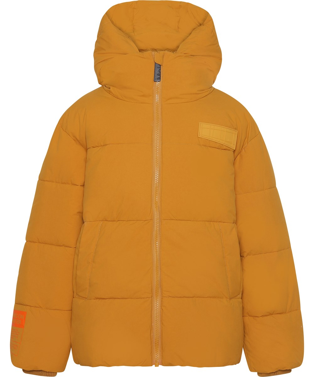 Halo - Autumn Leaf - Recycled mustard coloured down winter jacket