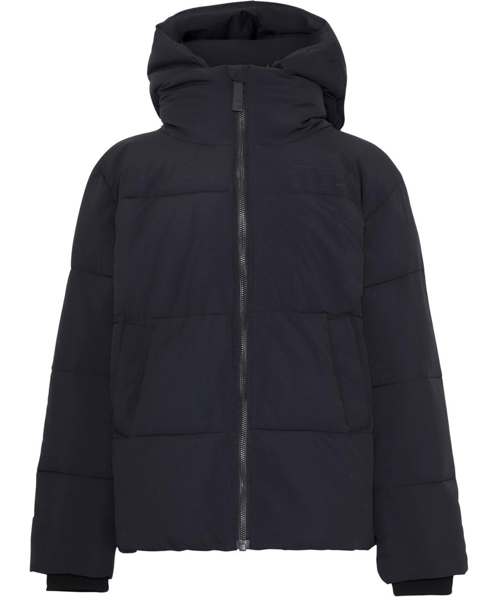 Halo - Black - Recycled black down winter jacket