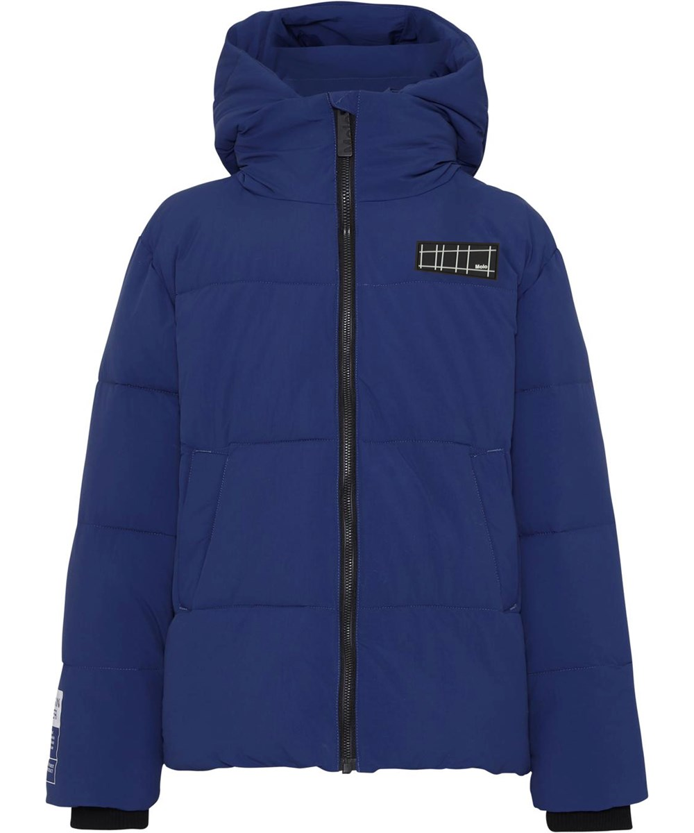 Halo - Ink Blue - Recycled blue down winter jacket