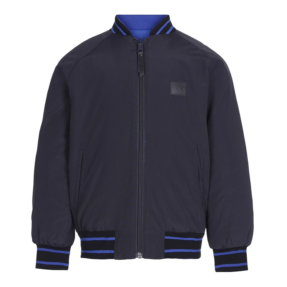 Han - Very Black - Reversible bomber jacket in black and blue