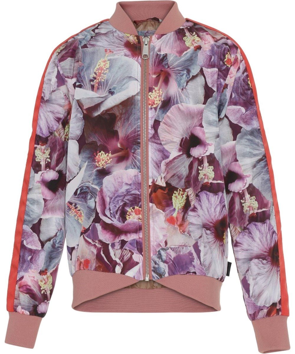 Hanna - True Hibiscus - Floral jacket with red stripes