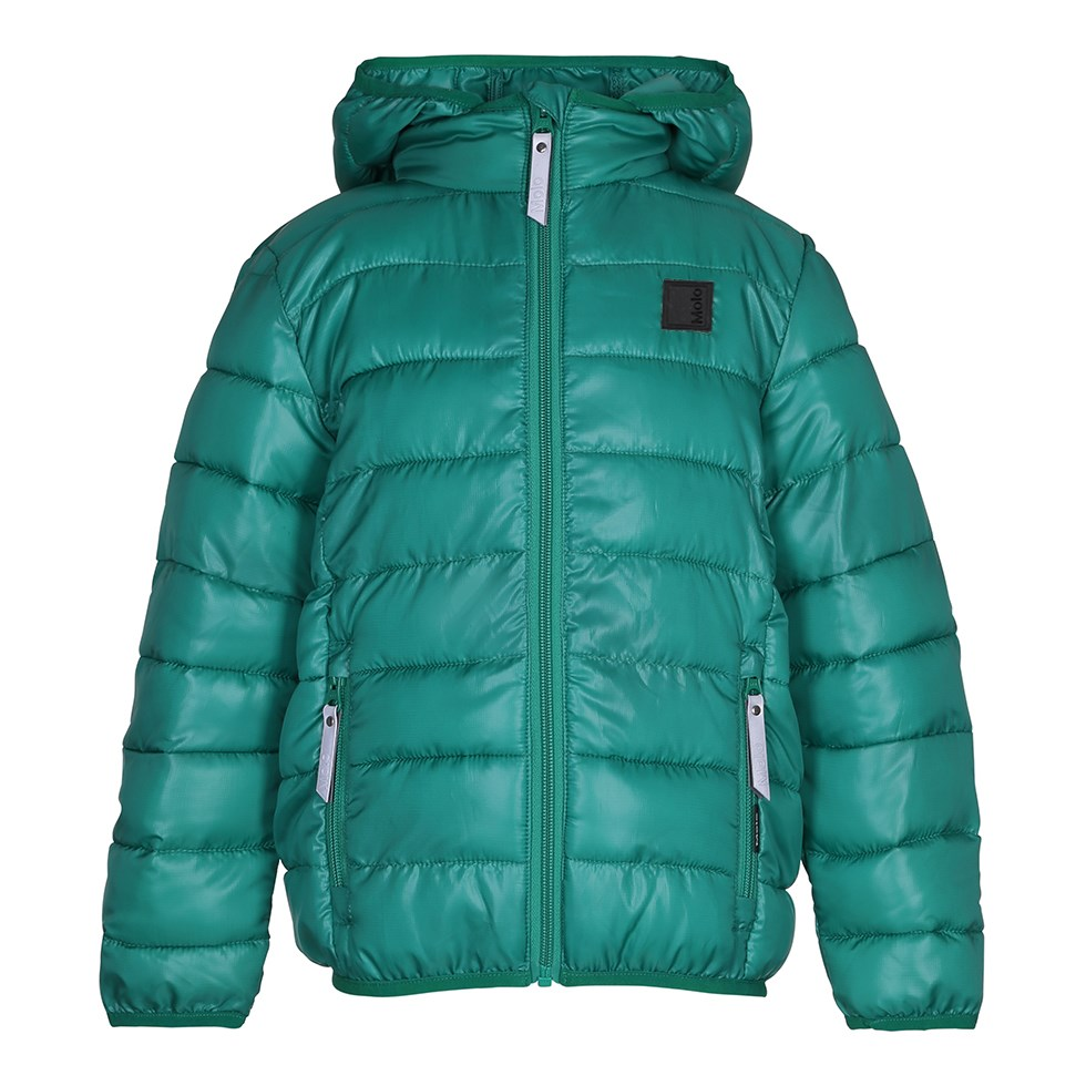 Hao - Bright Green - Sporty, green down jacket