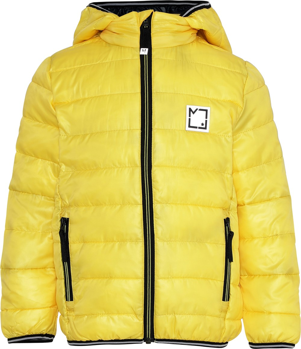 Hao - Comet - Yellow winter jacket with hood.