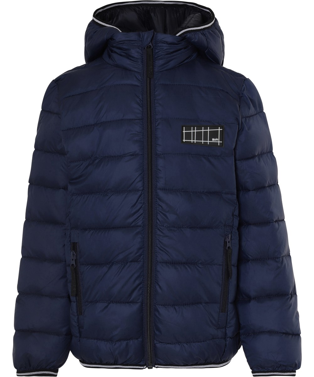 Hao - Dark Navy - Dark blue winter down jacket
