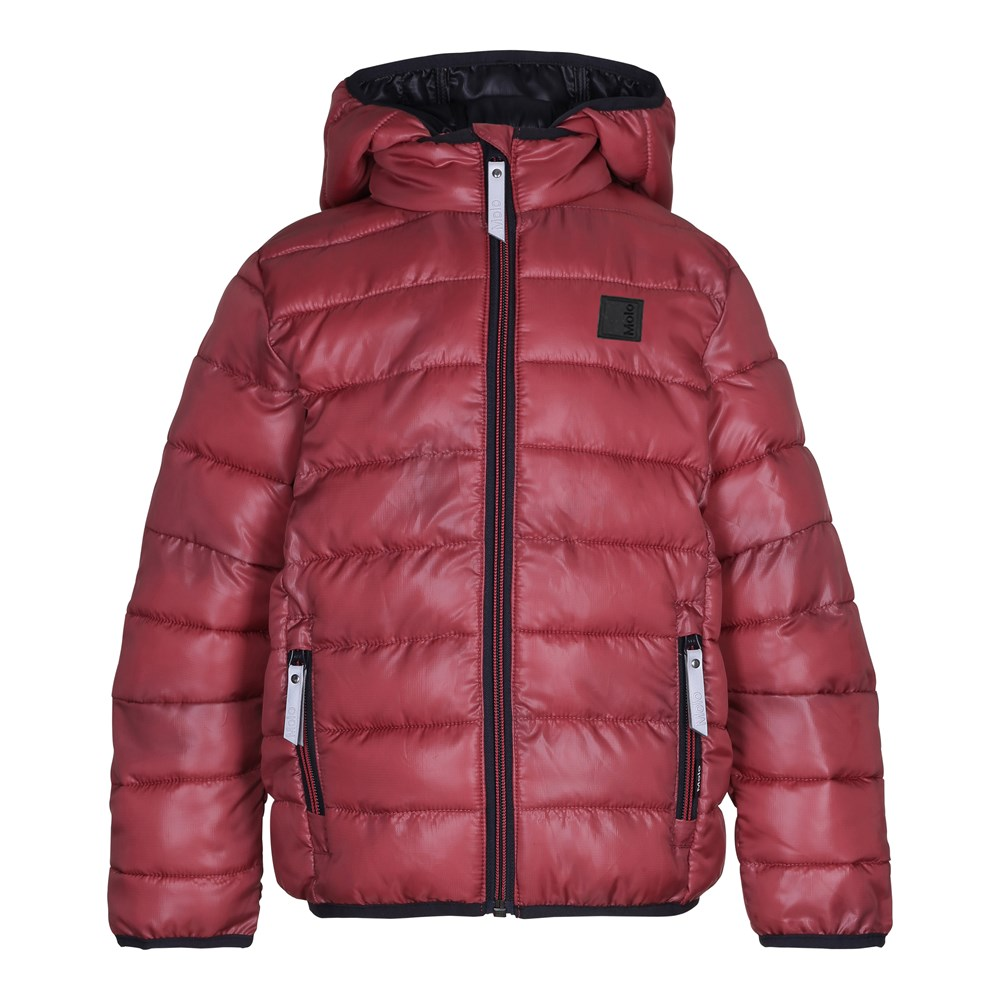 Hao - Earth Red - Sporty, red down jacket