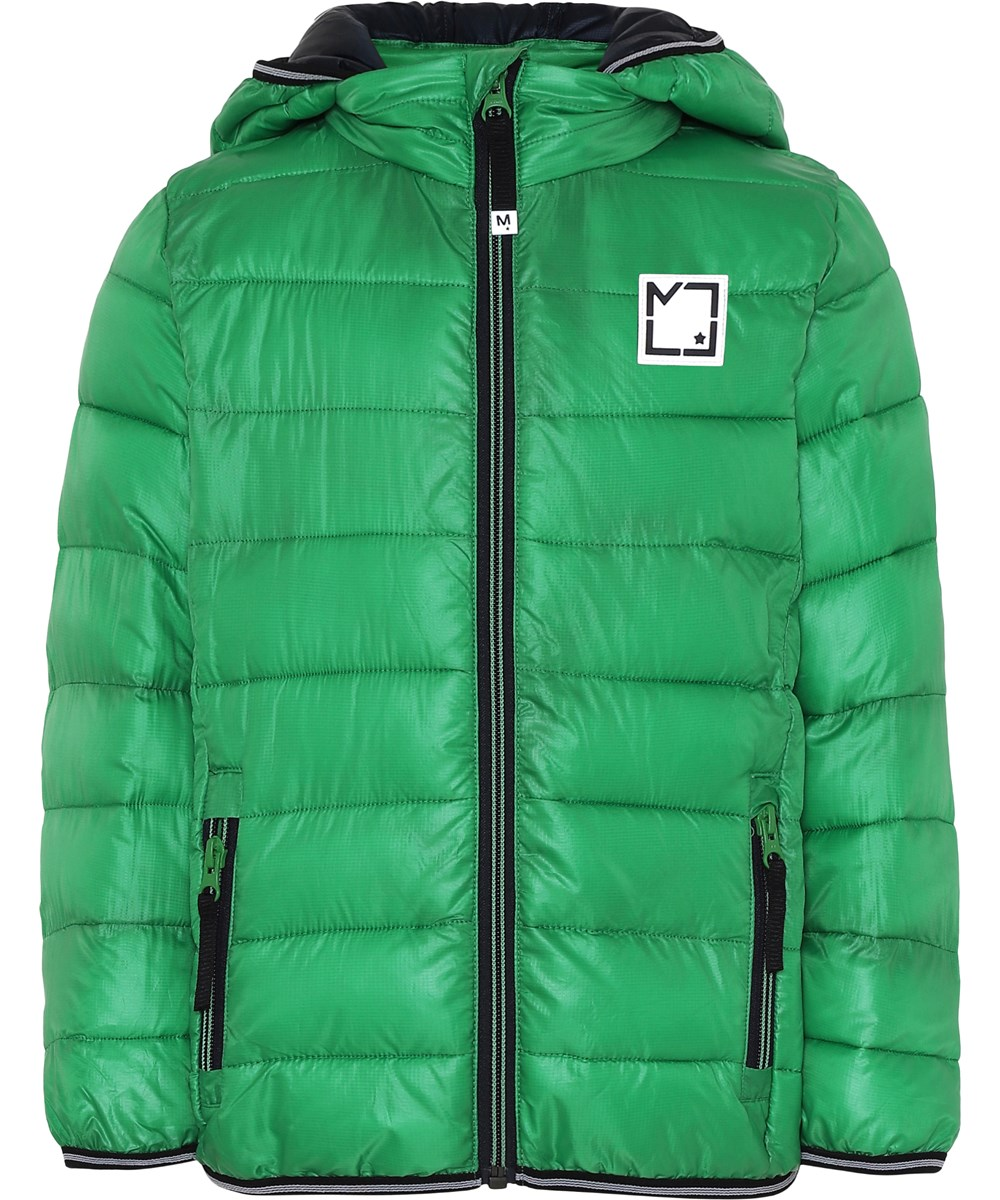 Hao - Total Green - Green winter jacket with hood.