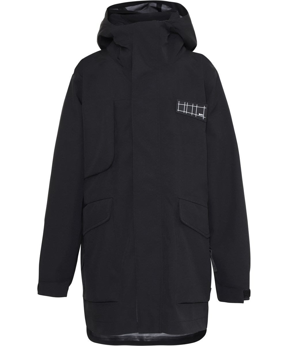 Harden - Black - Black shell jacket hardshell
