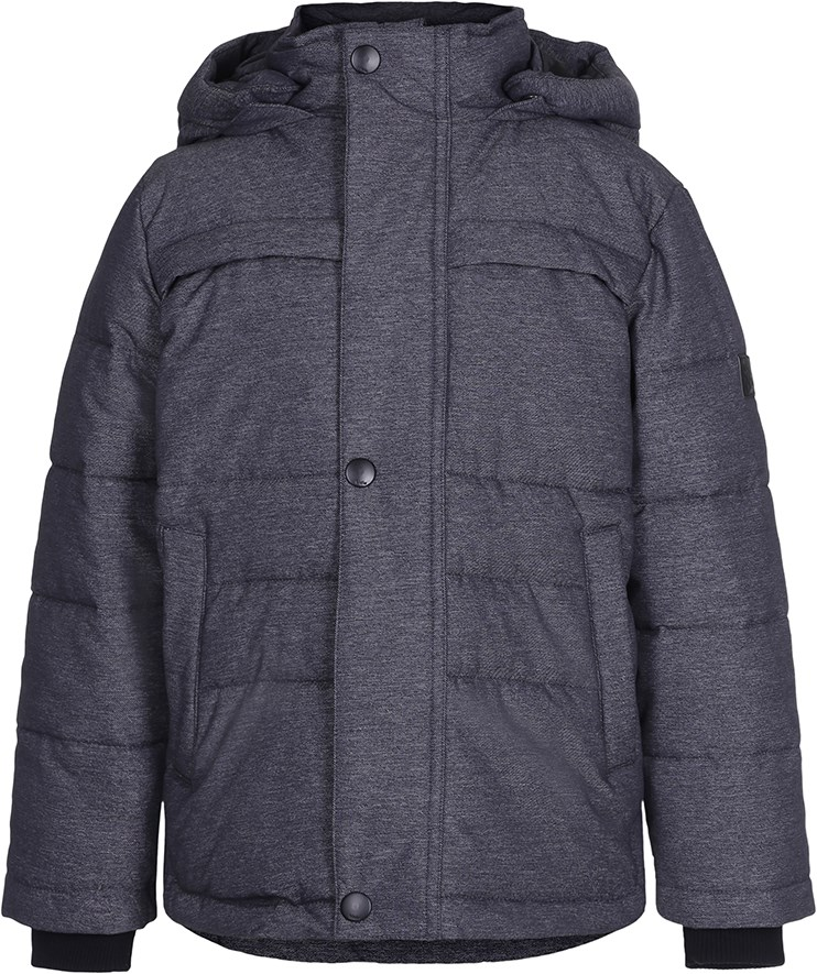 Haris - Denim - Dark grey winter jacket with lining