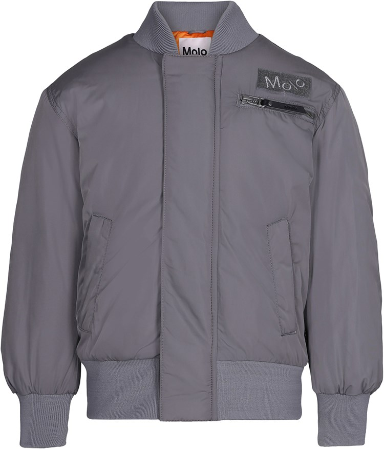 Harl - Smokey Grey - Grey bomber jacket with lining