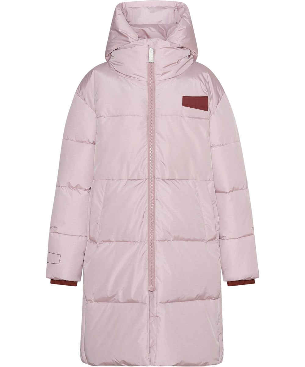 Harper - Blue Pink - Warm, pink recycled warm coat